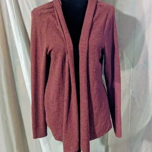 Eileen Fisher Red 100% Wool Cardigan Size PL
